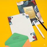 06 - Blossom illustration letter paper and envelope set