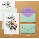 Size of Blossom illustration letter paper and envelope set