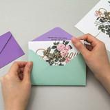 Envelope - Blossom illustration letter paper and envelope set