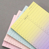 Checklist plan memo notepad