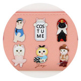 Jetoy Choo Choo cat zipper slim pouch - costume