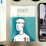 Blue - N.IVY You and I clearpassport cover case holder