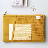 Yellow - Livework A low hill basic mesh pocket daily pouch
