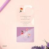 Violet - Bookfriends Korean literature flower clear bookmark