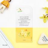Yellow - Bookfriends Korean literature flower clear bookmark