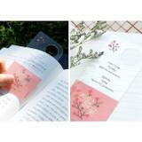 Pink - Bookfriends Korean literature flower clear bookmark