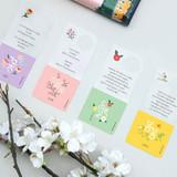 Bookfriends Korean literature flower clear bookmark