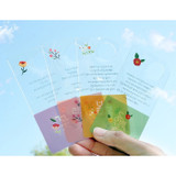 Bookfriends Korean literature flower clear bookmark