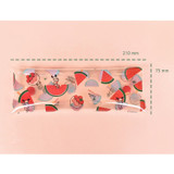 Size - N.IVY Odong et valerie watermelon clear folding pencil case