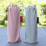 Bookfriends Stripe medium drawstring pouch