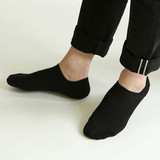 Black - Dailylike Daily basic men no show socks