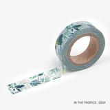 Leaf - Dailylike Flower deco masking tape set of 4