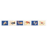 Dailylike Animal musicians deco single stamp masking tape