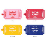 Option - After The Rain Heart planet ticket travel luggage name tag