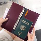 Burgundy - Iconic Slit passport cover case holder wallet