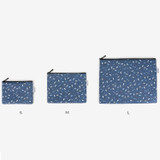Size - Laminated cotton fabric zipper pouch - Universe
