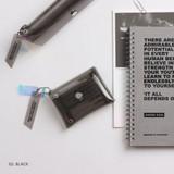 02 Black - Clear pocket folding card case pouch