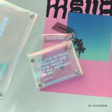 03 Hologram - Clear pocket folding card case pouch
