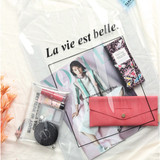 Wanna This La vie est belle PVC Clear tote bag