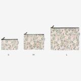 Size - Laminated cotton fabric zipper pouch - Kaya