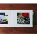 Detail of 5X7 photo frame card with envelope