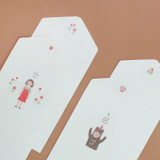 Happy folded letter card set