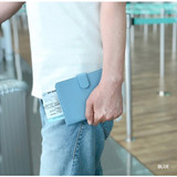 Blue - Seeso Double passport cover case holder