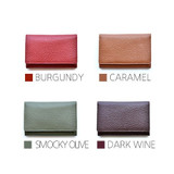 Colors of Allday genuine cowhide leather card wallet
