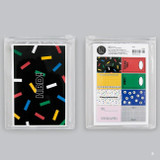 B - Message and pattern perforated postcard book