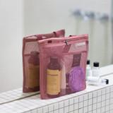 Indi pink - Byfulldesign Travelus Medium slim mesh pouch ver4