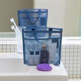 Blue gray - Byfulldesign Travelus Medium slim mesh pouch ver4