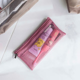 Indi pink - Byfulldesign Travelus slim long mesh pouch ver4