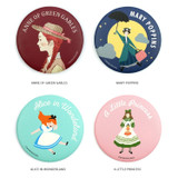 Bookfriends World literature round hand mirror