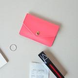 Scarlet pink - Lovelyborn synthetic leather card case holder