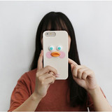 White - Brunch brother duck iPhone 6+ 6S+ 7+ 8+ silicone case