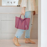 Indi pink - Byfulldesign Travelus travel medium zipper tote bag