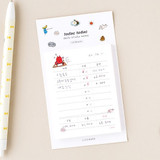 Cash - Todac Todac illustration daily sticky notepad memo