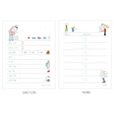 Daily log, Word - Todac Todac illustration daily sticky notepad memo