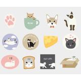 Dailylike Cat polypropylene film sticker set