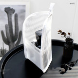 White - ICONIC Travel standing zipper toiletry pouch bag