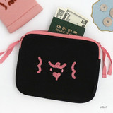 Rolly - ROMANE My rolly face cotton zipper pouch