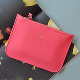 Scarlet pink - Lovelyborn daily zipper flat small pouch