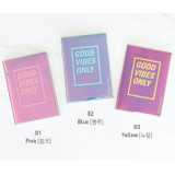 Color - Paperian Good vibe only undated weekly planner