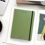 Green - The time planner large dateless weekly planner