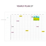 Yearly plan - Rainbow dateless weekly diary planner
