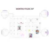 Monthly plan - Moon piece undated weekly diary planner