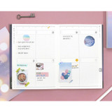 Weekly plan - Moon piece undated weekly diary planner