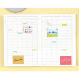 Yearly plan - Moon piece undated weekly diary planner