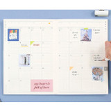 Monthly plan - Moonshine undated weekly diary planner agenda