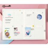 Weekly plan - Moonshine undated weekly diary planner agenda